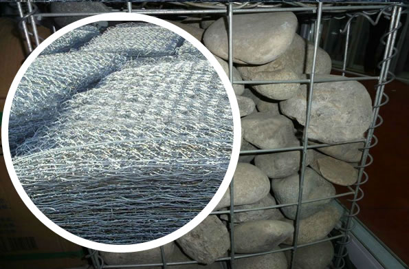 Welded Square Mesh Gabions with Galfan Coating