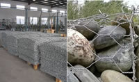 Woven Wire Cages for Gabion Building